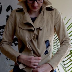 Mackage Jacket with Leather Trim